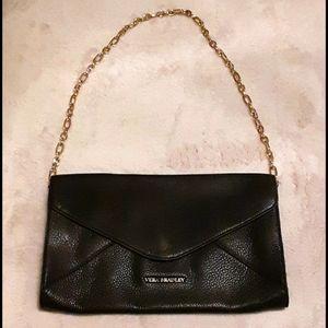 Vera Bradley Genuine Black Leather Harper Clutch